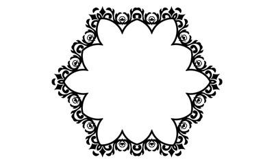 Coloring Book Ornament Mandala Floral Wedding Symbol