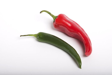 chili pepper isolated on a whi
