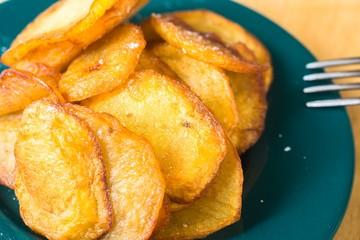 Fresh grilled crunchy potato slice.