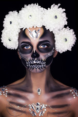 Make-up for the girl on Halloween