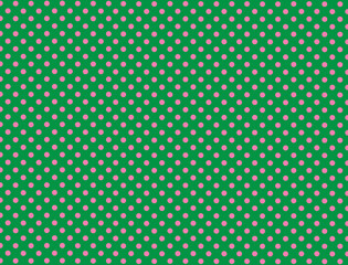 Green and Pink Polka Dot Background