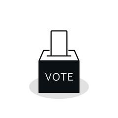 Vote box or ballot box icon. Vector isolated simple symbol