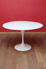 table ronde blanche  années 1950