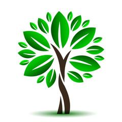 Leafy tree, eco sign – vector