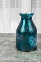 Metallic green decorative vase