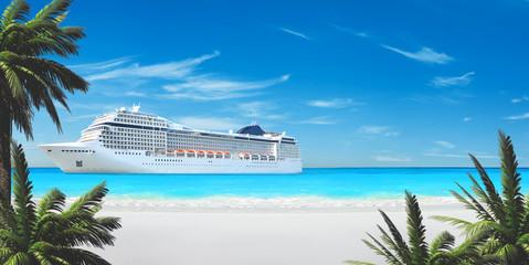Karibik Kreuzfahrt - Weißer Strand & Palmen