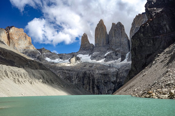 Base of the Towers (Base Las Torres), Torres del Paine National Park, Chilean Patagonia