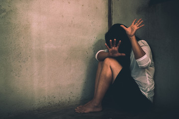 Stop Sexual abuse Concept, stop violence against Women