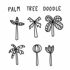 Palm tree cartoon doodle vector illustration