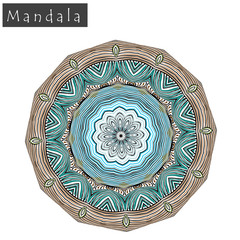 Geometrical flower mandala sign