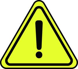 Simple Yellow Warning mark 2