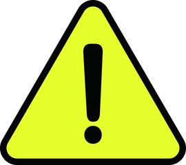 Simple Yellow Warning mark 1