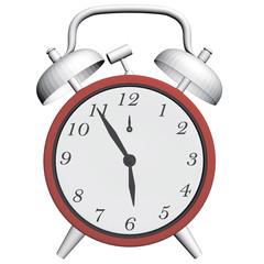 Antique clock with alarm clock