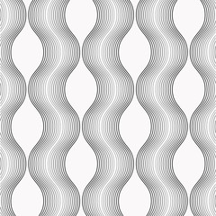 linear vector pattern repeating thick and thin line curve and wave. pattern is on swatches panel