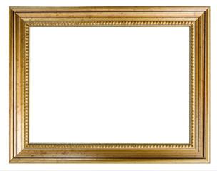 cadre doré ciselé avec liserés