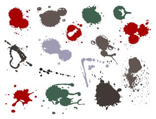 Blood splat splash spot ink stain blot patch liquid vector illustration