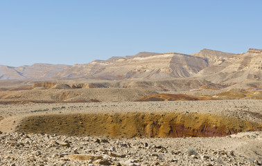 Landscape of the desert in Israel