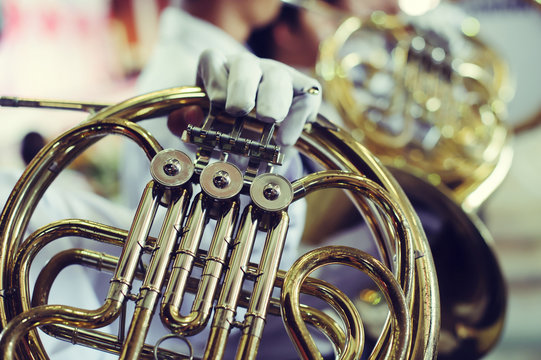 marching band Playing instrument