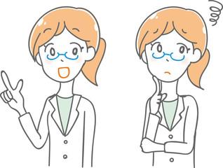 女性医師のイラスト素材