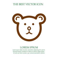 Teddy bear head vector icon eps 10.