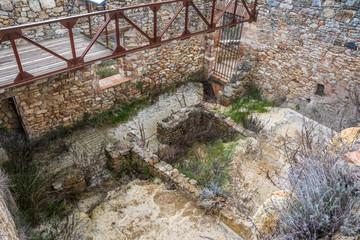 Ruine Mühlenpark Parco dei Mulini, Toskana, Italien