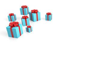 blaue geschenkkartons