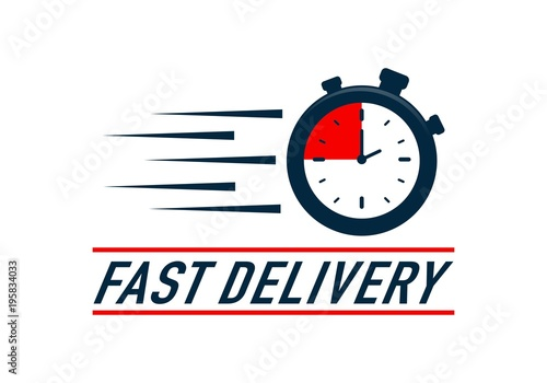 """""""Timer, fast delivery logo"""" Stock image and royalty-free ..."""
