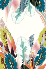 Beautiful tropical illustration or template