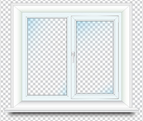 Plastic window, vector graphic