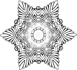 Black and white mandala. The idea for a tattoo.