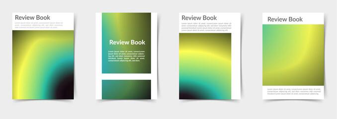 Modern futuristic gradient mesh pattern folder layout templates