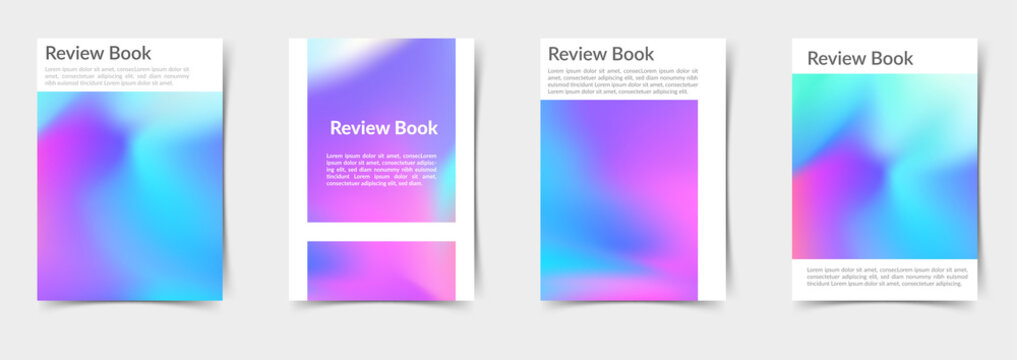 Bright modern mesh gradient colorful folder collection