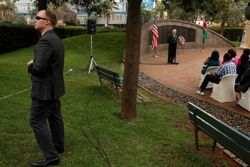 Tillerson visits the memorial on the site of the 1998 U.S. embassy bombing in Nairobi