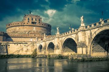 Fototapete - Castel Sant'Angelo in summer, Rome, Italy