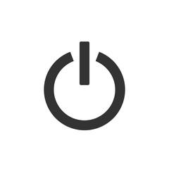 Shutdown icon, power icon, on/off sign. Vector illustration. Flat design.