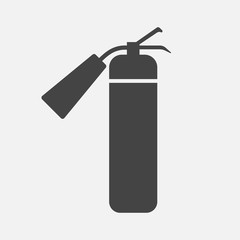 Vector icon fire extinguisher on a gray background.