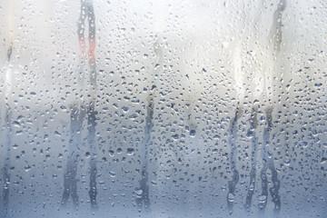 Rain or water drops on window glasses