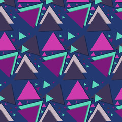 vector illustration, triangles colored, bright background