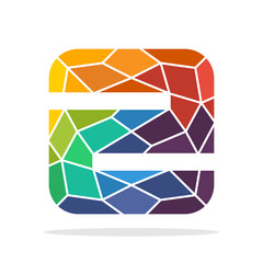 logo icon initial letter Z with the concept of colorful mosaic style