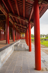 The Long Corridor next to the Can Thanh Palace Site in the Imperial City, Hue, Vietnam