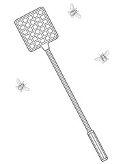 Flies and swatter