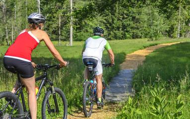 raus in die Natur mit dem Mountainbike