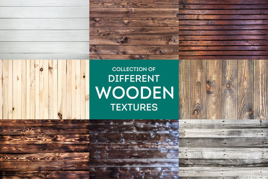 Wooden background or texture with natural pattern, collection