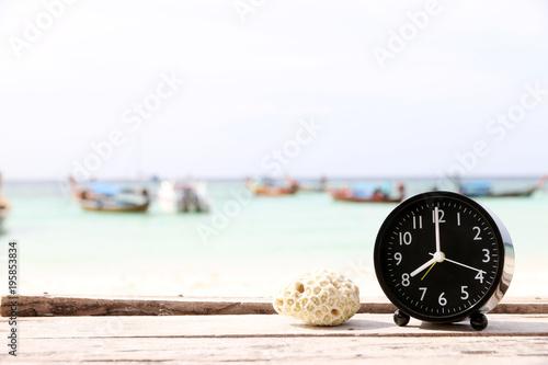 Alarm Clock On The Beach Copy E