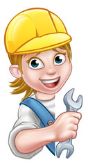 Cartoon Character Plumber Woman