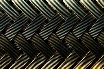 Macro view of gold fiber