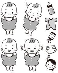 赤ちゃんセット白黒