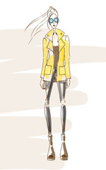 Fashion-coat-yellow
