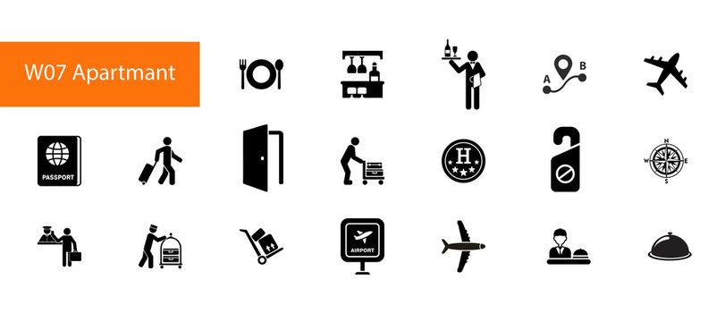 Travelling icon set