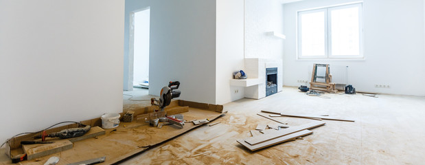 Apartment repair wall repair renovation house renovation home remodeling laminate